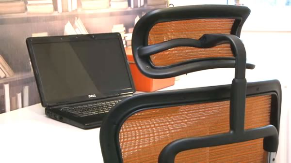 Ergohuman Orange Mesh Chair as seen on TV